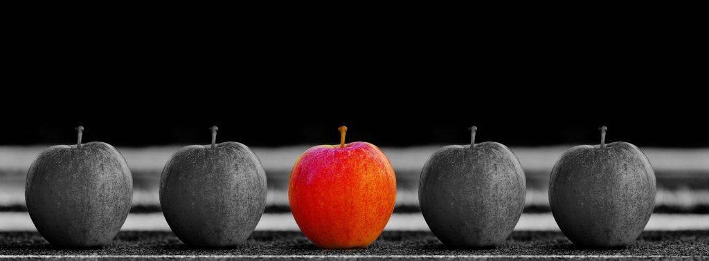 choisir une seule pomme