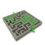chemin compliqué labyrinthe