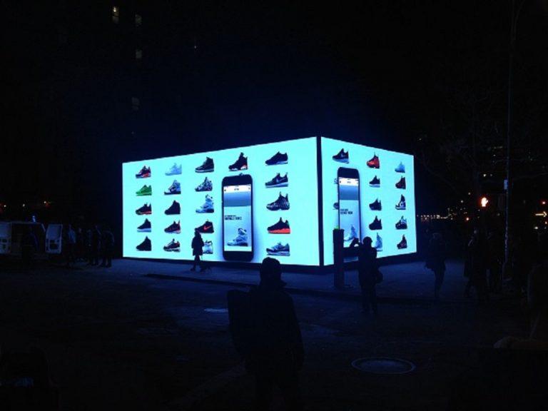 Magasin Nike boite à chaussure