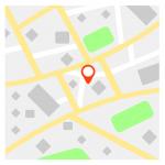 Plan avec pointeur de lieu