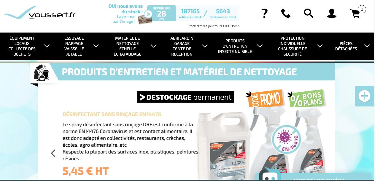 Voussert.fr, votre fournisseur de produits d'entretien pour les pros !
